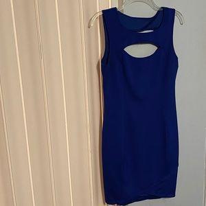 Royal Blue Guess Bodycon Cutout Dress